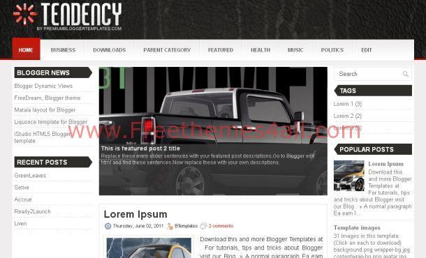 Free Black White Magazine Blogger Template