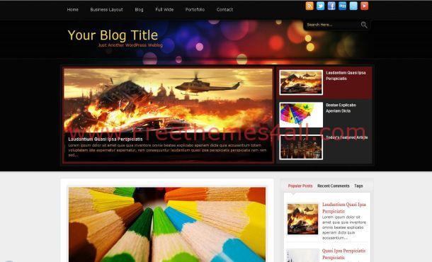 Black Grunge Business WordPress Theme