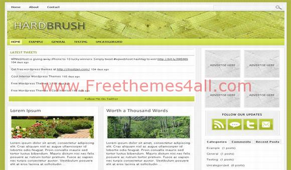 Free Hard Brush Vector WordPress Magazine Theme