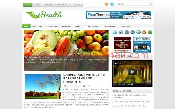 clean health free wordpress theme download. Black Bedroom Furniture Sets. Home Design Ideas