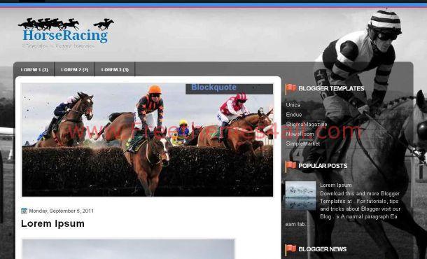 Jquery Black Horses Blogger Template