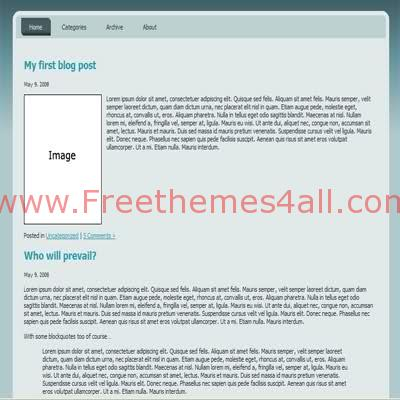 Free HTML CSS Dark Bleu simple Website Template