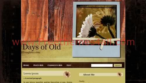 Free Blogger Nature Flower Wood Web2.0 Template