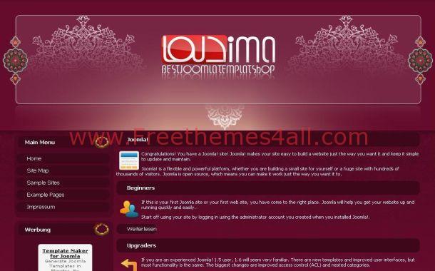 Free Grunge Islam Portal Joomla Theme Template