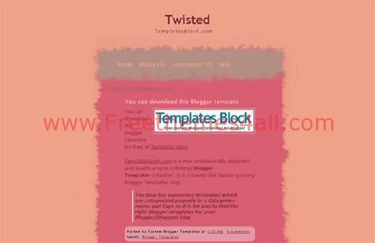 Free Blogger Twisted Web2.0 Template