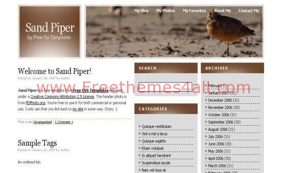 Free CSS Wild Nature Brown Web2.0 Template