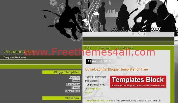 Free Blogger Unchained Fun Vector Gray Template