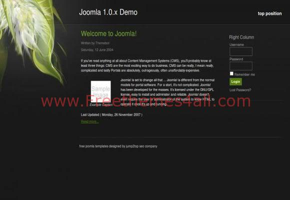 Free Joomla Nature Blog Web2.0 Theme Template