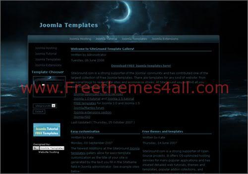 Free Joomla Black Moon Night Template Freethemes4all
