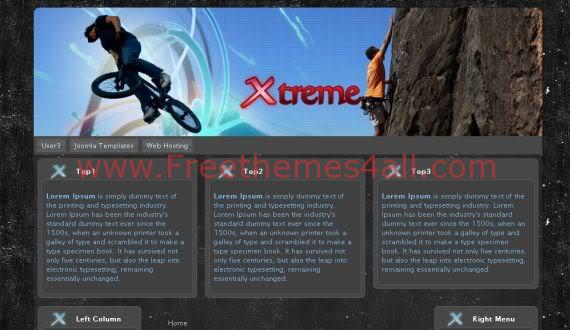 Free Joomla Xtreme Sports Black Template