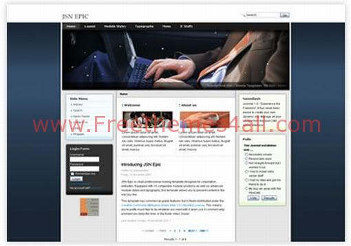 Free Joomla Computers Business Web2.0 Template