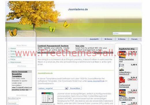 Free Joomla Vegetal Nature Web2.0 Theme Template
