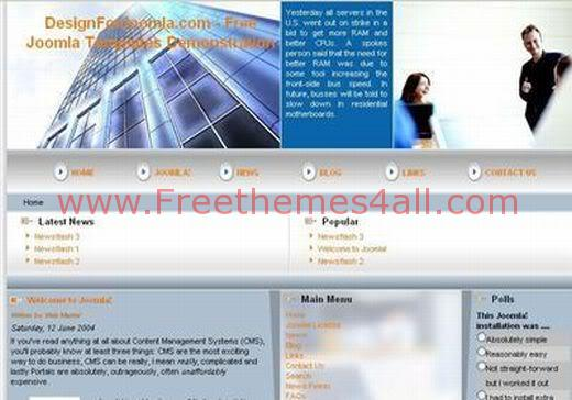 Free Joomla Business Flash Bleu Web2.0 Theme Template