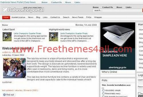Free Joomla Computers Gray Web2.0 Theme Template