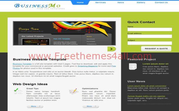 Free Jquery Green Business CSS Website Template