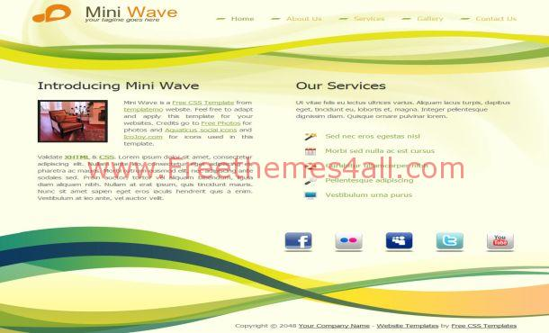 Free Jquery Green Yellow Business CSS Template