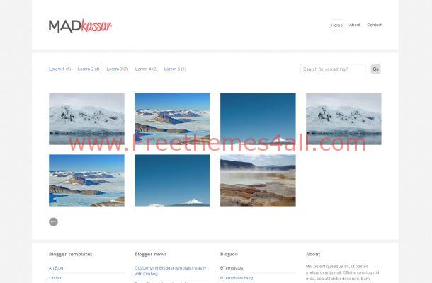 Portfolio Gallery Free Blogger Theme Template