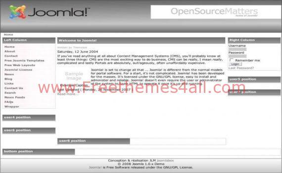 Free Joomla Dark Light Gray Theme Template