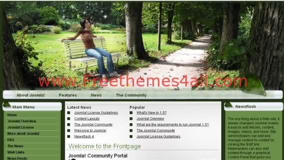 Free Joomla Art Green Herbal Website Template