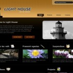 House Dark Black Free CSS Template