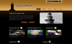 House Dark Black Free CSS Template