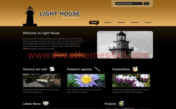 house black free css template house black free css template