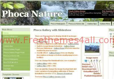 Free Joomla Nature Water Web2.0 Theme Template