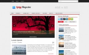 Magazine Free Blogger Theme
