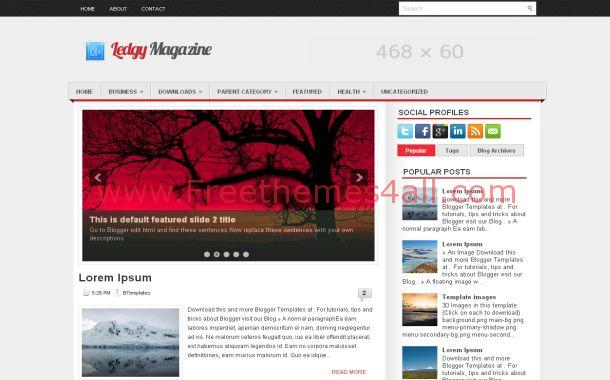 News Magazine Free Blogger Theme