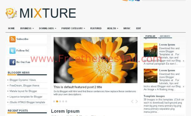 Free Business Gray Magazine Blogger Template