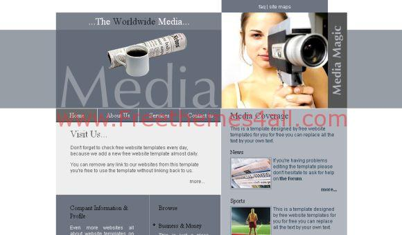 Blue White Media News CSS Template