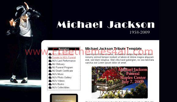 Black White Michael Jackson Website Template