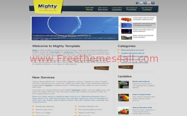 Blue Yellow Business Free CSS Website Template