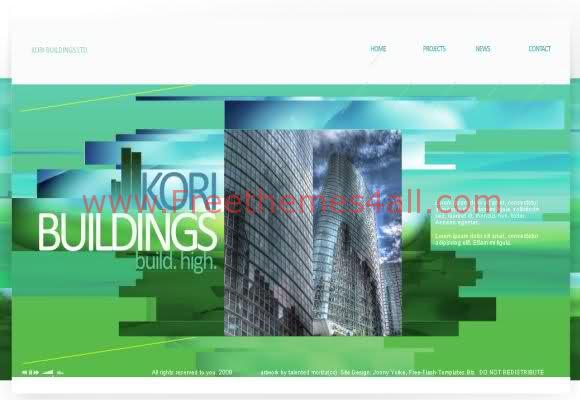 Free Flash Architect Portfolio Company Template