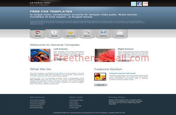 Portfolio Black Blue Free HTML CSS Website Template