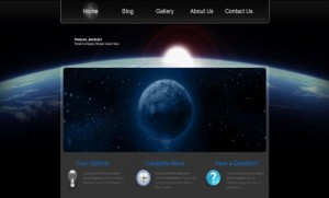 Jquery Moon Blue Black CSS Template