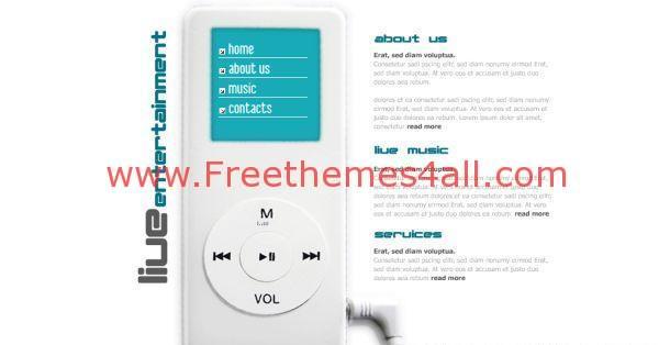 Music Flash Website Template