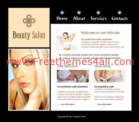Free Flash Girls Beauty Salon Web2.0 Template