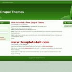 Green Nature Free Drupal 6 Theme