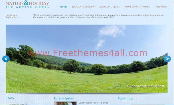 Free Nature Holiday Jquery Joomla Theme Template