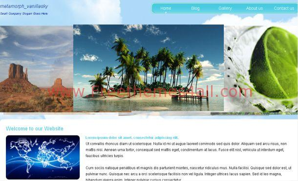 Free Blue Green Nature CSS Website Template
