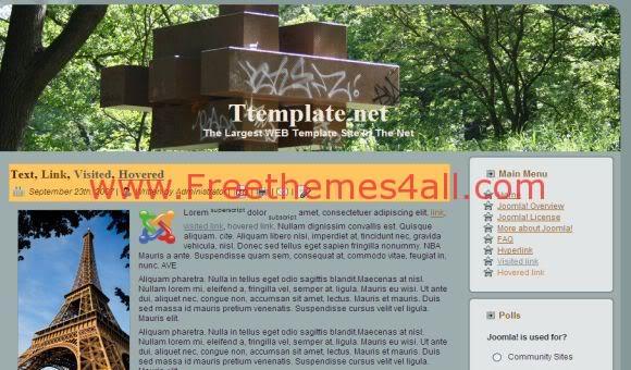 Clean Nature Land Wood Joomla Template