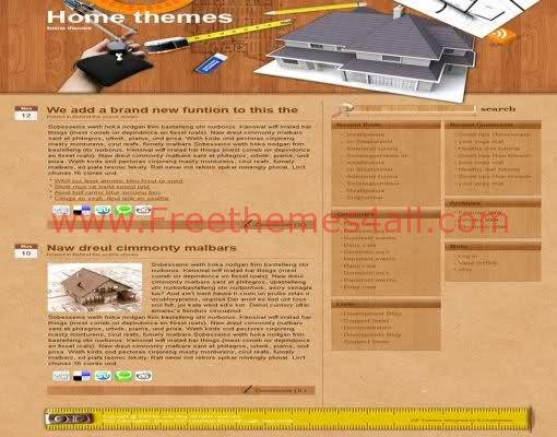 Free WordPress Home Carpenter Web2.0 Theme Template