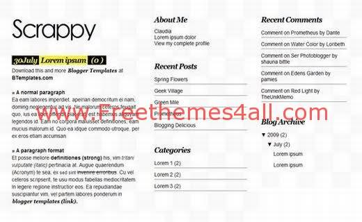 Free Blogger News Magazine Gray Web2.0 Template