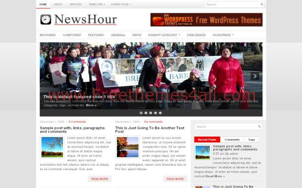 Red Gray News Blog Free Wordpress Theme