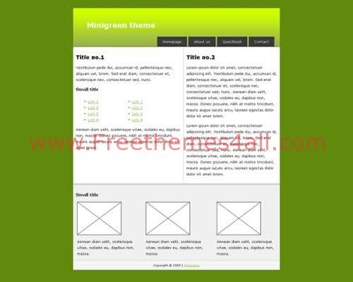 Minigren - New Free XHTML/CSS Theme Template