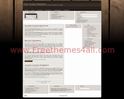 Free Joomla Neutral Wood Web2.0 Theme Template