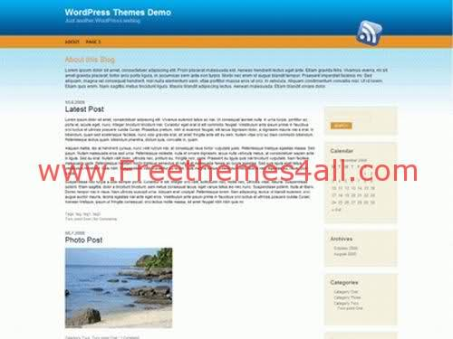 Free WordPress Beach Bleu Land Theme