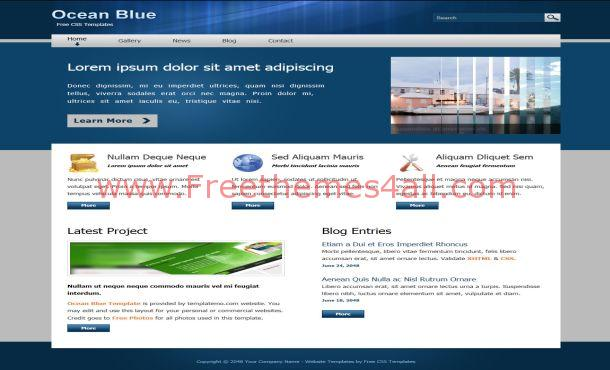 Ocean Business Blue Free CSS Website Template