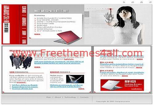 Free Flash Computers Magazin Business Web2.0 Template